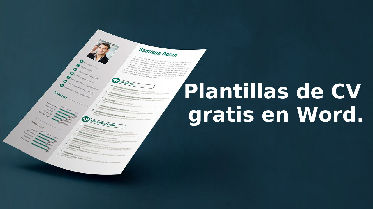 Plantillas Cv Word Gratis – I Started