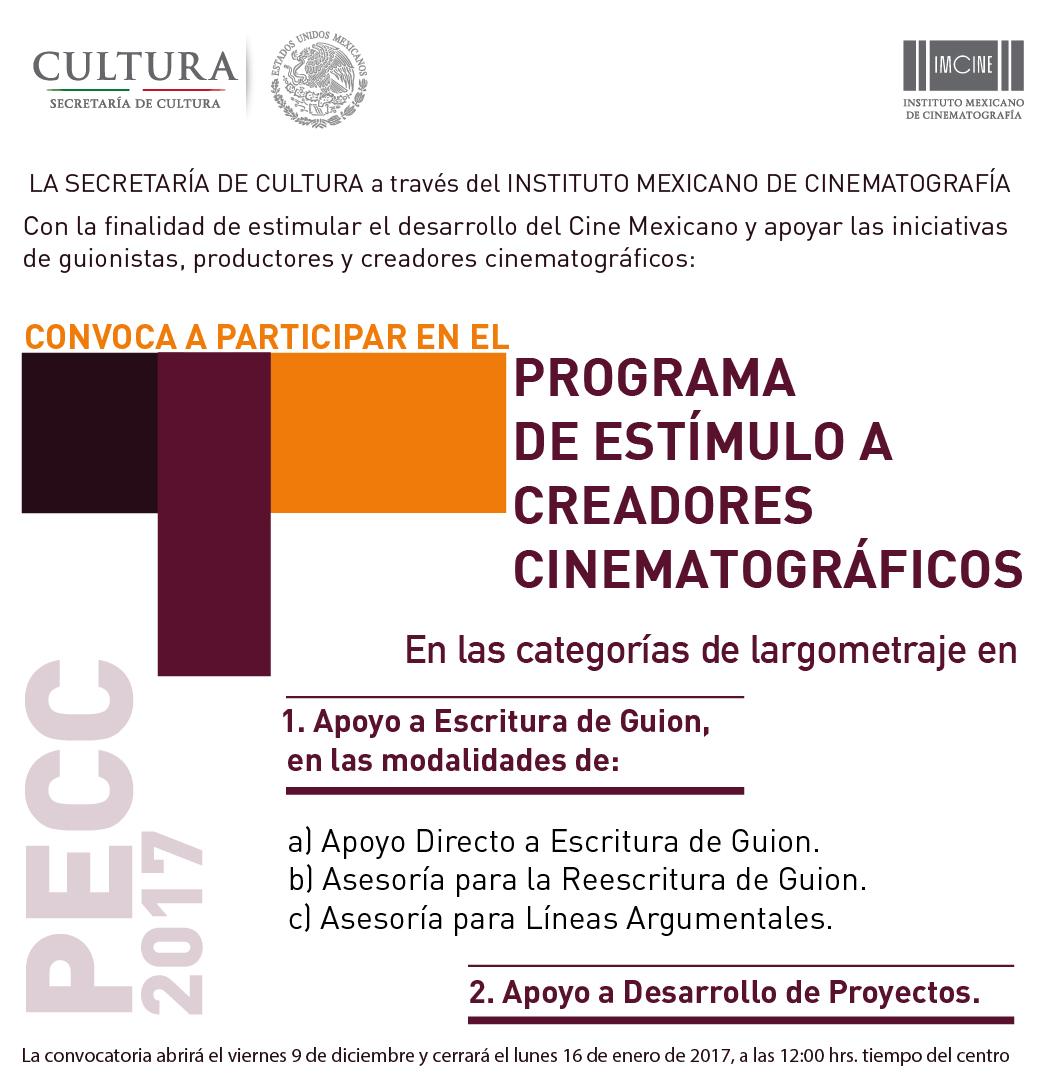 IMCINE convocatoria guionistas mexicanos