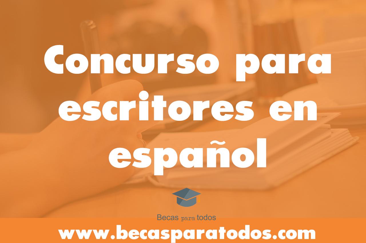 concurso para escritores en español