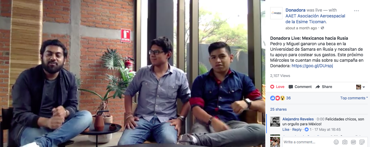 estudiantes mexicanos hacia rusia donadora