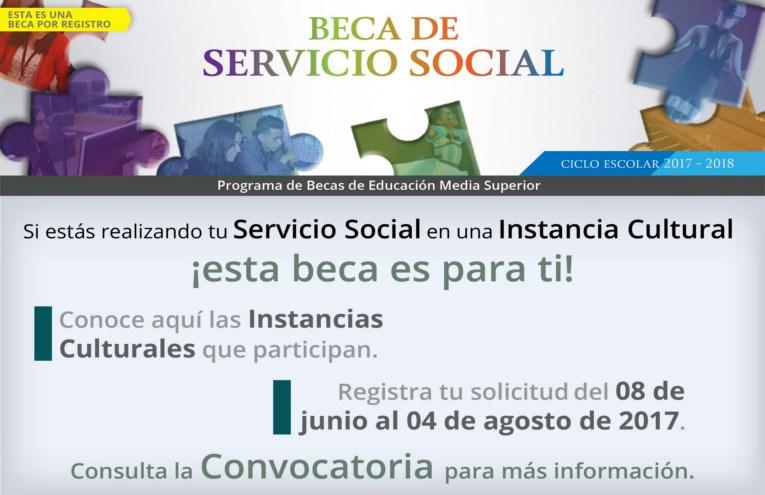beca de servicio social sep