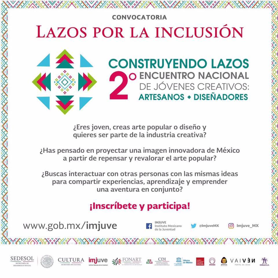 lazoz por la inclusión encuentro jóvenes creativos méxico