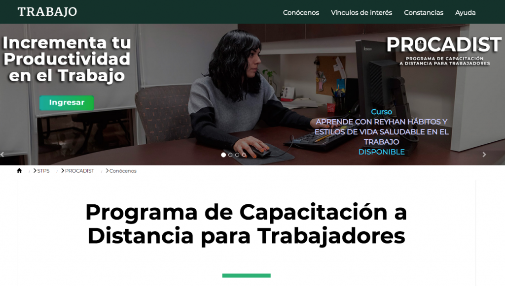 Procadist cursos en línea gratis sep